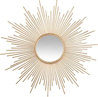 Ideacasa Miroir Soleil argent/é Miroir Argent Style Baroque Imitation Vintage 42/cm Diam/ètre Sun Mirror