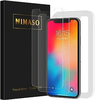 Nimaso【2枚セット】iPhone11 Pro/iPhoneX/Xs(5.8インチ)用 液晶保護ガラスフィルム【ガイド枠付き】(アイフォン11 Pro/X/Xs用)