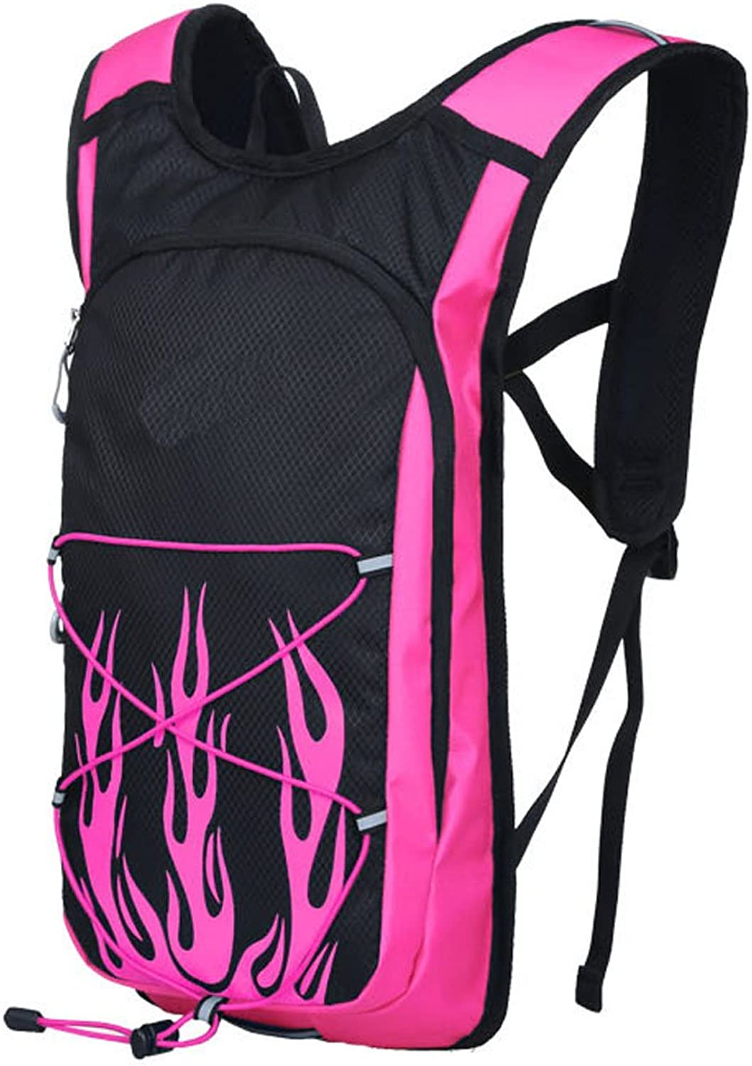 20L Large Capacity Outdoor Riding Backpack Waterproof Nylon Mountaineering Bag Leisure Travel Rucksack Men And Women Sports Daypack Removable Helmet Bag Air Diversion System Safety Reflective Strip,Pink