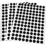 Adsamm® | 324 x Filzgleiter | Ø 10 mm | Schwarz | rund | 1.5 mm dünne selbstklebende Filz-Möbelgleiter in Top-Qualität