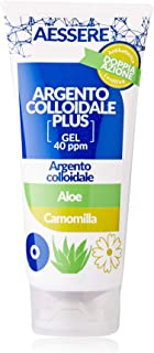Aessere Argento Colloidale Plus Gel, 100 ml, Aloe e Camomilla, 40 Ppm