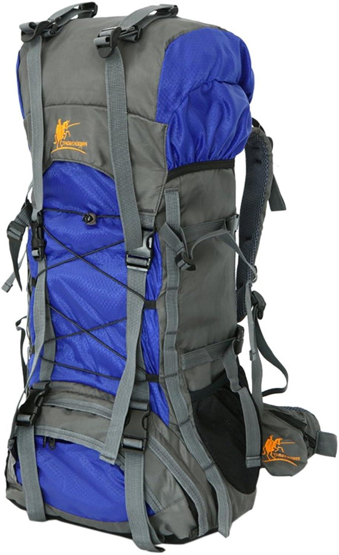 Trekking Backpack 60L Waterproof Hiking Backpack Large Capacity Internal Frame Backpack for Traveling, Camping, Climbing (blueee)