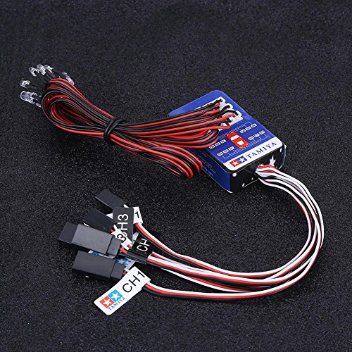 Luz Led para RC Car Trucks, 12 LED Sistema de iluminación Kit Simulación Luces Intermitentes para 1/10 1/8 RC Car/Truck/Crawler