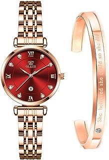 Women Watch Rose Gold Stainless Steel Fashion Dress...
