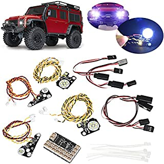GENERIC 17PCS LED Front Rear lights + IC Lamp Group Headlight Kit compatible for Trx4 RC Car Parts
