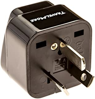 Australia Travel Adapter for Type I Plug - Works with Australian Electrical Outlets and New Zealand, China, Argentina, Fiji