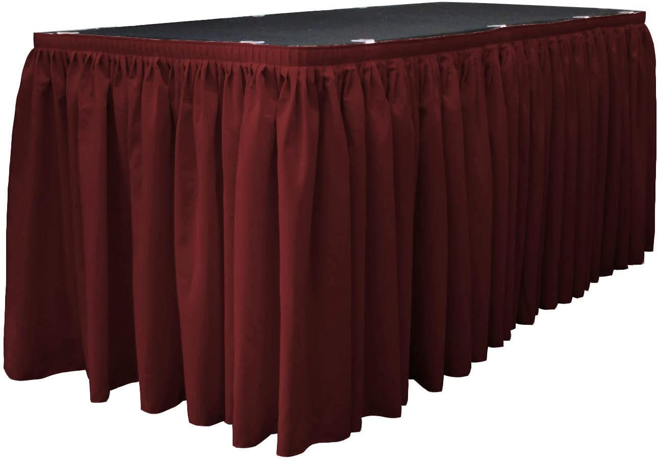 Manufacturer regenerated product Max 67% OFF LA Linen Polyester Poplin Pleated Table Skirt Large 10 Clip with