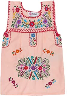 Mexican Clothing Co Baby Girls Mexican Blouse Sleeveless Tehuacan Poplin