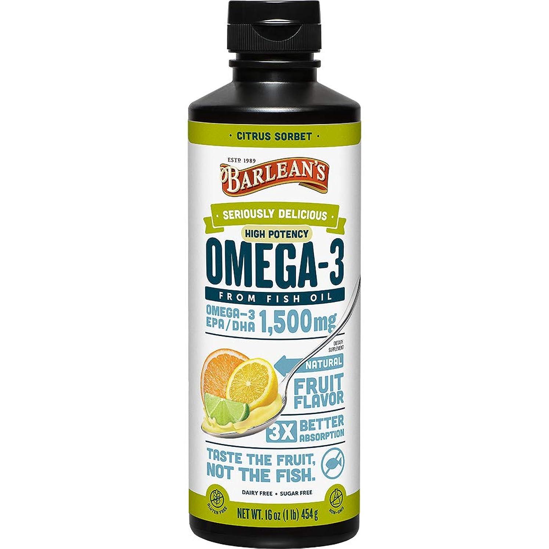 インタネットを見る食べるステージOmega Swirl, Ultra High Potency Fish Oil, Citrus Sorbet - Barlean's - UK Seller by Barlean's