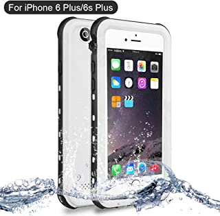NewTsie Funda iPhone 6 Plus, Funda iPhone 6s Plus, Anti-rasguños Impermeable Carcasa Funda Case con Protector de Pantalla Submarino Caso para iPhone 6/6s Plus 5.5 Inch (B-Blanco)