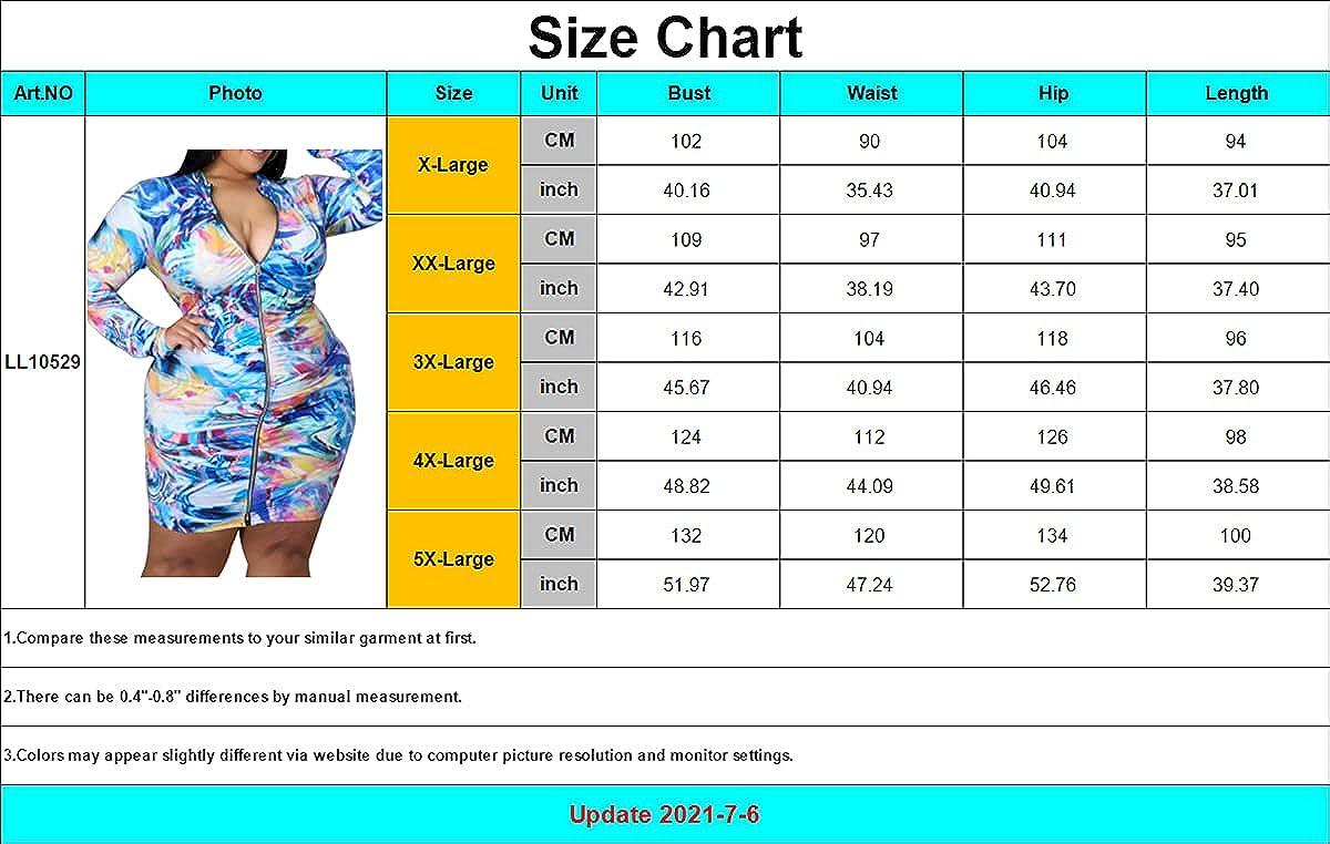 LalaLin Plus Size Dresses for Women Bodycon Floral Print Long Sleeve Clubwear Business Elegant Slim Fit Midi Dress XL-5XL