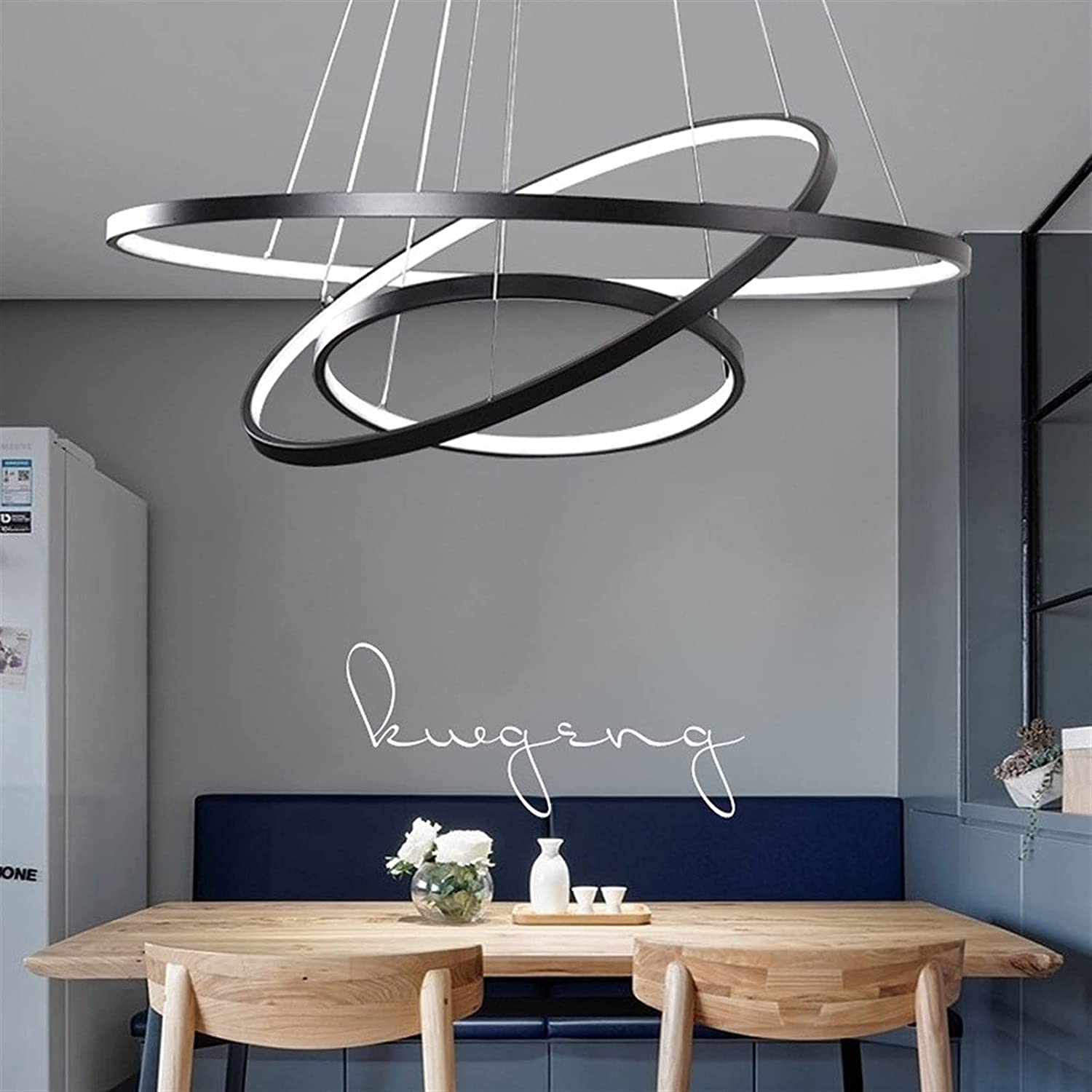 Max 51% OFF Chandelier Fixture 80W LED 3 Now on sale Round Pendant Ligh Rings