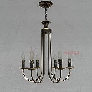 European Iron Chandelier Bedroom Lamp Bar Restaurant Pastoral Clothing Store American Art Lamps ( Color : B )