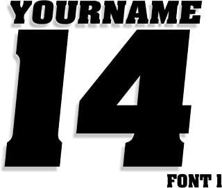Mx & ATV Number Plate Decals with Your Name or Custom Text | Set of 3 Decals With Your Custom Number, Text, Color & Font Choice | 17 Colors & 14 Font Choices!