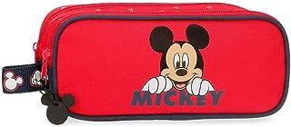 Disney Happy Mickey Estuche Doble Rojo 23x9x7 cms Poliéster