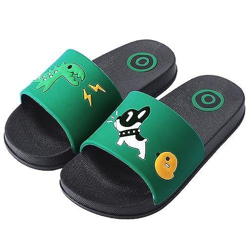 fa60669e89213d HiEase Boys Girls Cute Cartoon Slide Sandals Anti-Slip Bath Slippers Home  Slipper (Toddler