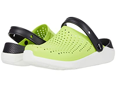 Crocs Kids LiteRide Clog (Little Kid/Big Kid) (Lime Punch/Black) Kid