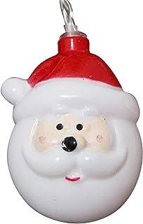 20 LED Santa Head Light Waterproof 8 Lighting Mode USB Operated DIY Decor Christmas