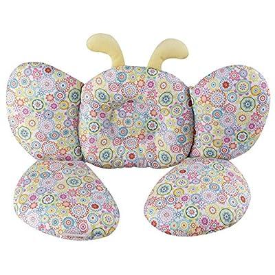 kakiblin bebé almohada de viaje y cuello apoyo mariposas almohada para asiento de coche o carrito