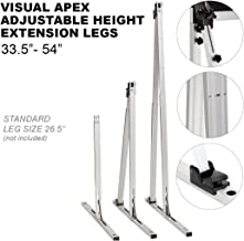 """Visual Apex Projector Screens Adjustable Height 33.5"""" to 54"""" Extension Stand Legs - One Pair fits All Visual Apex Screen Sizes 100HD - 144HD"""