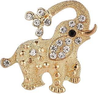 Kanggest Broche para Mujer Creativa Broche Estilo elefante diamante Broche Elegante Broches para Ropa Bufanda Vestidos Broche de personalidad de moda