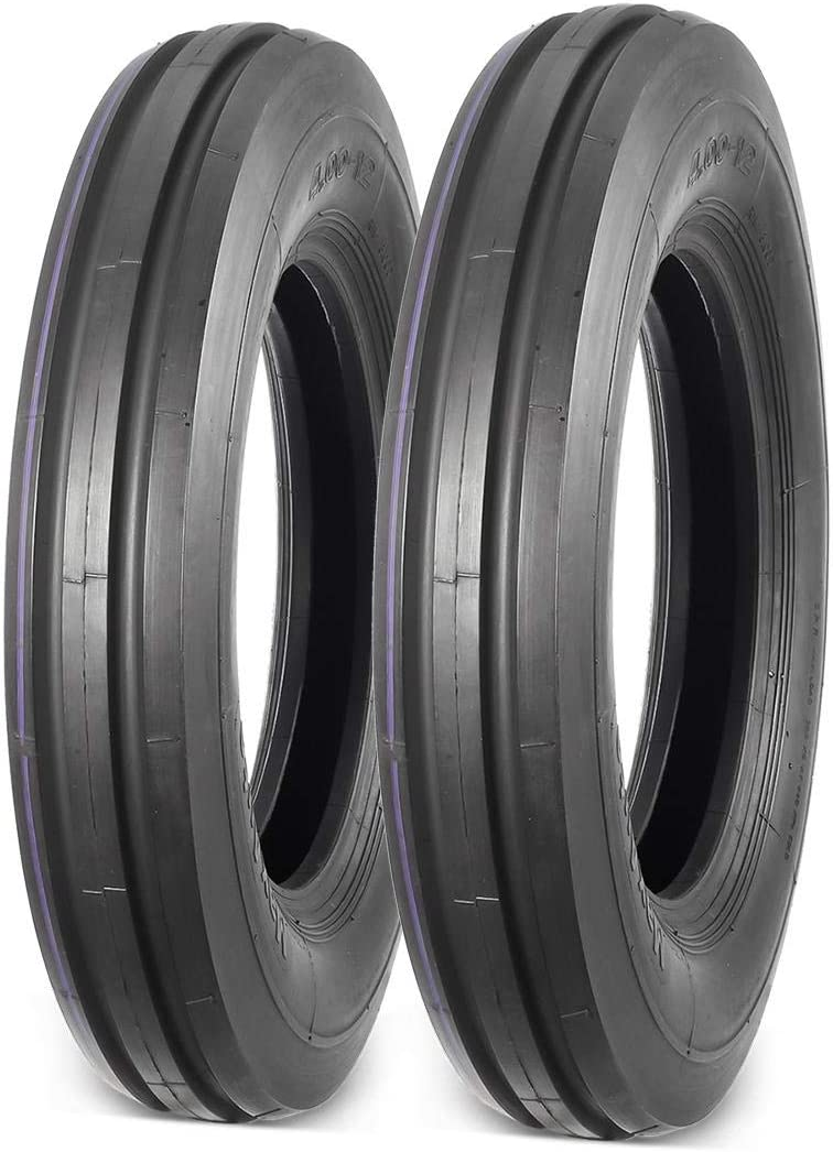 MaxAuto 2Pcs 4.00-12 Tire for Tillers 3 R snow shopping blowers throwers low-pricing