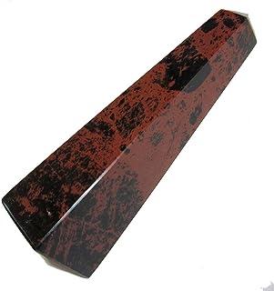 """SatinCrystals Obsidian Wand Protection Healing Stone Mahogany Crystal Tower (4.5"""")"""