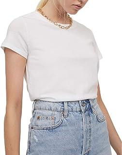 Pacco da 2 T Shirts Donna Estate Moda Casual Elegante Sexy Cotone Bianco Nero Basic Corto Tee Magliette Top