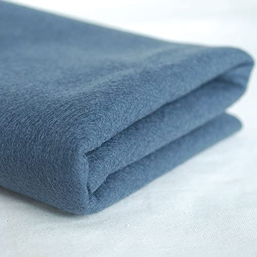 100% Pure Wool Felt Fabric - 1mm Thick - Charcoal grau - 80cm x 1 Metre