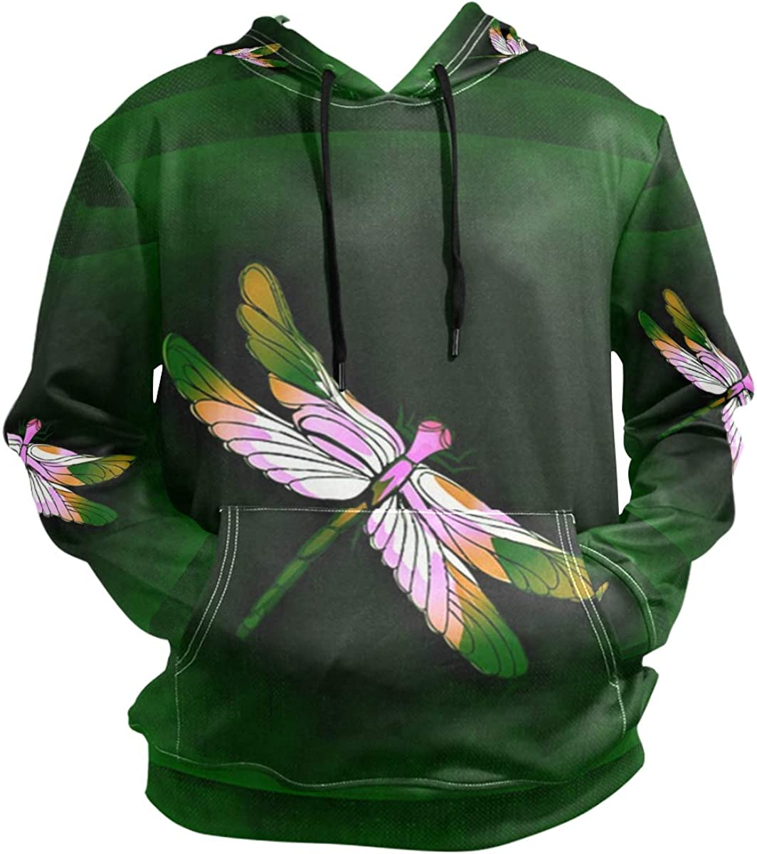 SLHFPX Dragonfly Hoodie 3D Pullover Hooded Long Sleeve Workout Sweatshirts