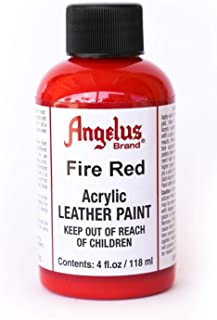 Angelus Leather Paint 4oz-Fire Red