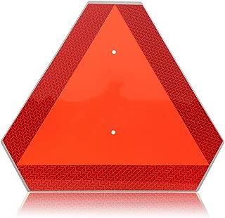 Slow Moving Vehicle Safety Sign,Slow Moving Vehicle Triangle Sign,Aluminum 14