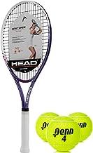 HEAD Ti Instinct Supreme Pink/White Tennis Racquet Kit or Set Bundled with (1) Can of 3 Penn Tennis Balls