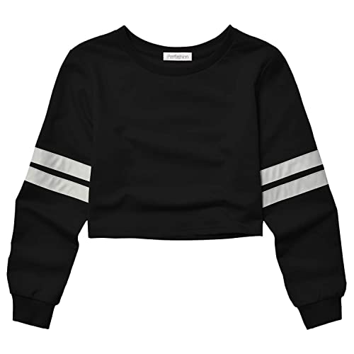 0b809afbc1 Cropped Sweatshirts for Women, Long Sleeve Cute Crop Top Shirt Cotton  Pullover