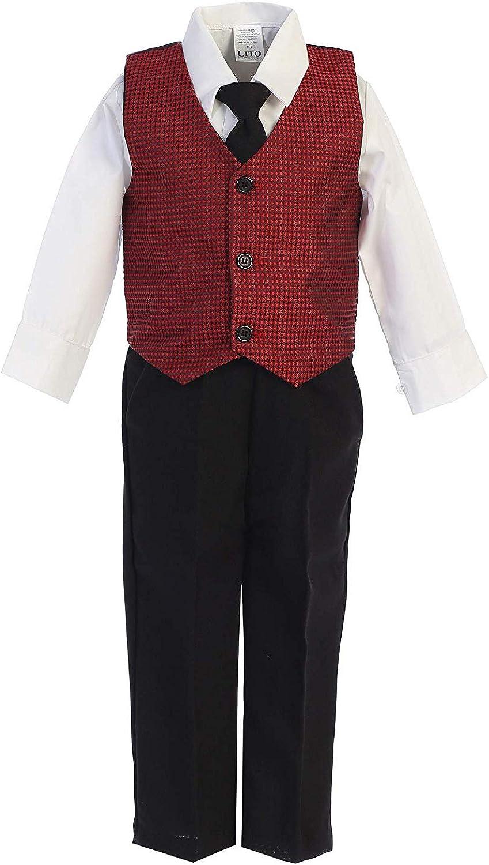 Vintage Toddler Velvet Paisley Vest Bow Tie Shirt Holiday Dress Up 3 Piece Set Size 12-18 Months