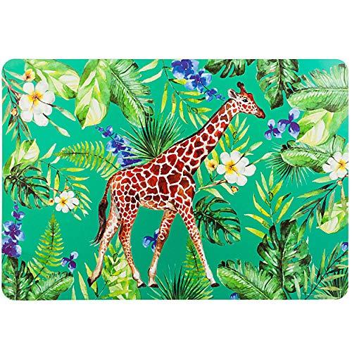 alles-meine.de GmbH 2 Stück _ Unterlagen - Dschungel Tiere & Safari - Giraffe - 44 cm * 29 cm - als Tischunterlagen / Platzdeckchen / Malunterlagen / Knetunterlagen / Eßunterlage..