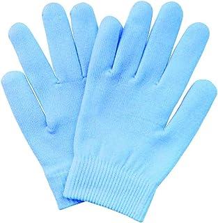 Pinkiou SPAジェルグローブ 手袋 保湿 美肌 手袋 ハンドケア 角質ケア 手荒れ対策 スキンケア ホホバオイル ビタミンE レディース 綿 肌に優しい(ブルー)