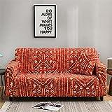 Funda Cubre Sofá,Protector para Sofás Reversible,Funda de sofá elástica Patrón elástico Fundas de sofá Totalmente Cerradas Funda de sillón Protector Universal de Muebles Ajustados-1 Plaza_Tex