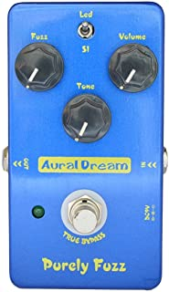 Aural Dream Purely Fuzz Guitar effect pedal with Classic 60s' and 70s' Fuzz tone for 2 modes Fuzz,True Bypass