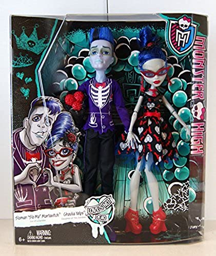 Monster High Poupée Couple Zombie Ghoulia Yelps et Slohomme  Slo Mo  Mortavitch CKD81