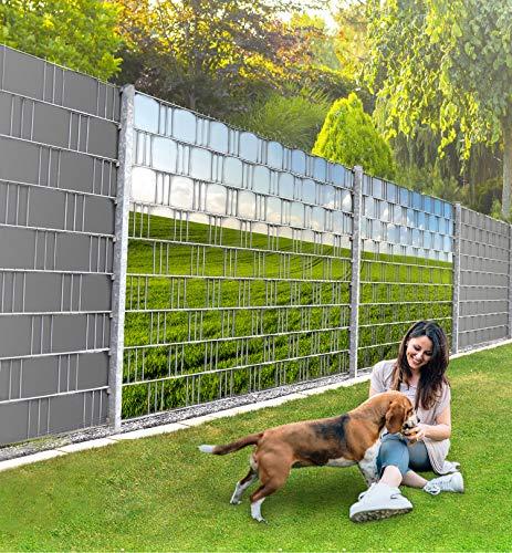 MyMaxxi Infinity Zaunsichtschutz   Field 02 Teil2 Motiv  Sichtschutzstreifen für Doppelstabmattenzaun   Windschutz Sonnenschutz Blickdicht   Polyester Gewebe Garten  Balkon Sichtschutz