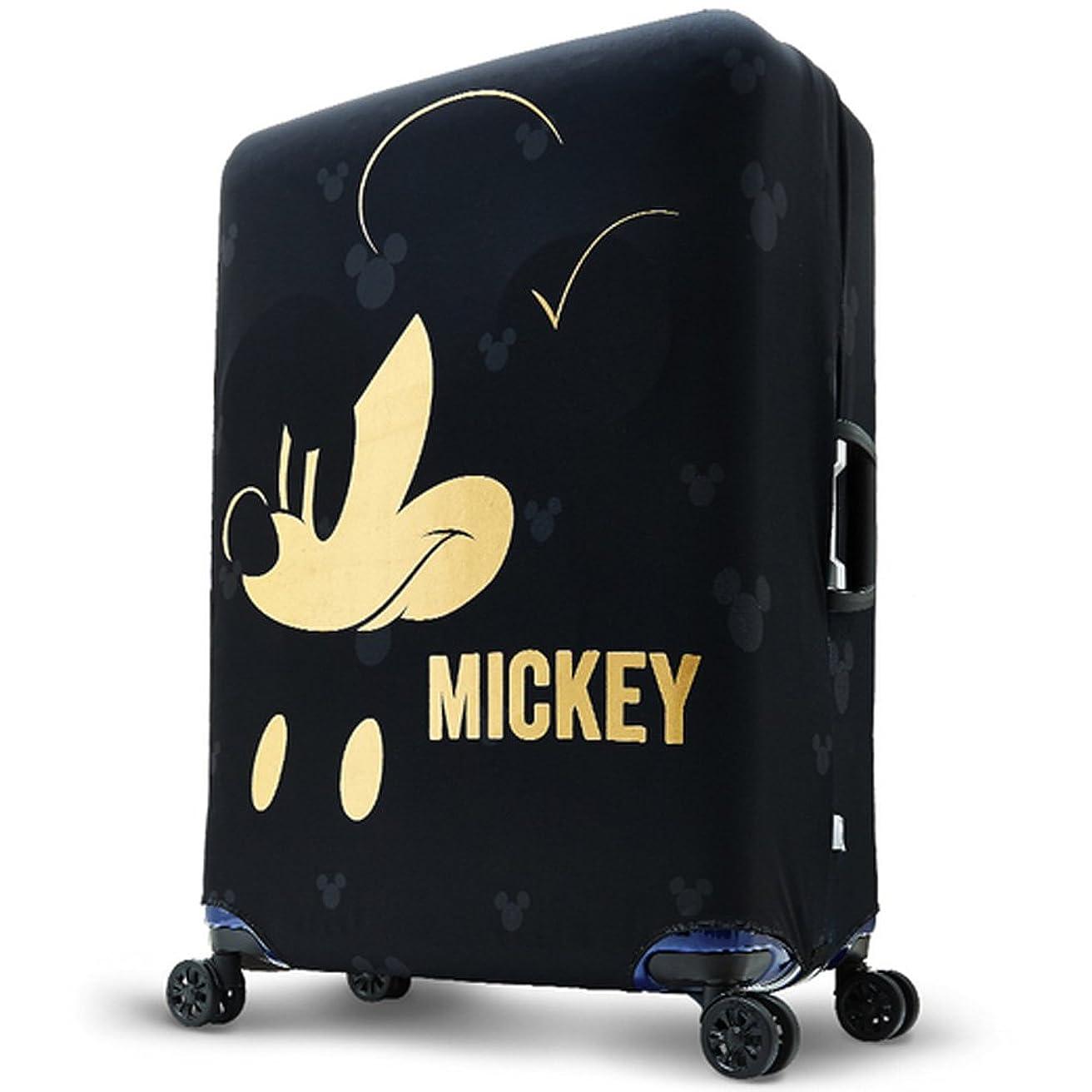難民勝者指定するディズニー ミッキー スーツケースカバー キャリーバッグカバー ミッキーマウス 旅行用品 キャラクター 黒