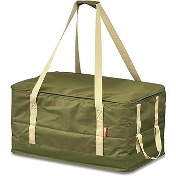 FIELDOOR マルチツールボックス ペグケース 40cmペグも収納可能 仕切り付 折りたたみ 道具入れ 小物入れ キャンプ用品 ツールバッグ