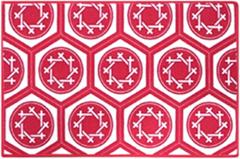 hasta un 70% de descuento Ren Chang Jia Shi Pin Firm Alfombrilla de Felpudo Felpudo Felpudo Absorbente Felpudo de Cuarto de bao Alfombrillas de bao (Color   rojo, Talla   120  150cm)  respuestas rápidas