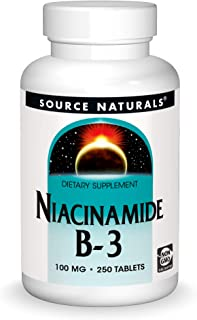 Source Naturals Niacinamide B-3, 100 mg Dietary Supplement - 250 Tablets