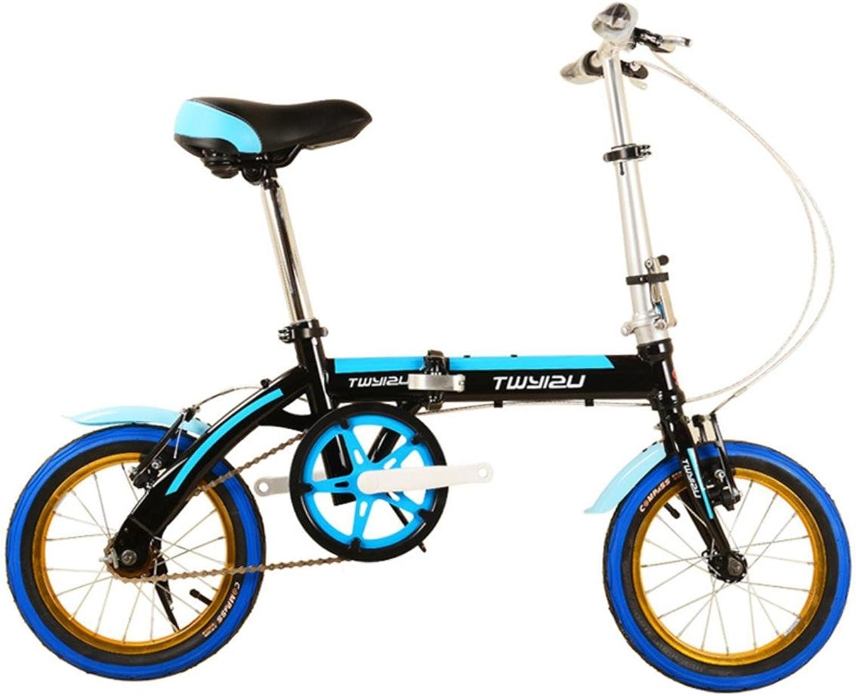 Kinder Fahrrad Freestyle Faltende Geschenke für Kinder Junge   Mdchen Fahrrad, 14 Zoll Rder
