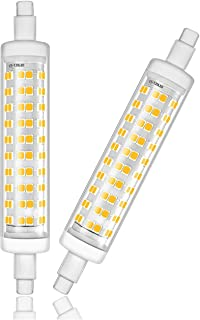 R7S Base LED Light Bulb, led Bulbs 10W 118mm(4.64''),AC 85V - 265V,Double Ended J Type Halogen Lamp Replacement-Non-dimmable-Pack of 2-Daylight White