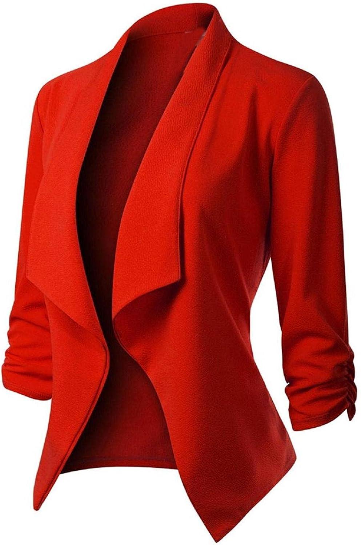 Beppter Women's Casual wholesale Blazer Jacket Print Washington Mall L Open Cardigan Front