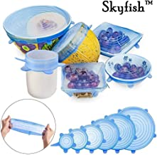 Skyfish® Silicone Stretchable Lids Covers for Bowls, Cups, Pots - Pack of 6 (Multi Color)