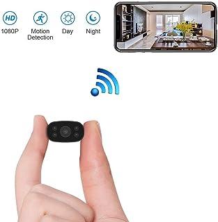 Cámara Espía PNZEO W3 HD1080P Mini Cámara Oculta Portátil WiFi Cámara IP de Seguridad IR Vision Nocturna Detección de Movimiento monitoreo Remoto